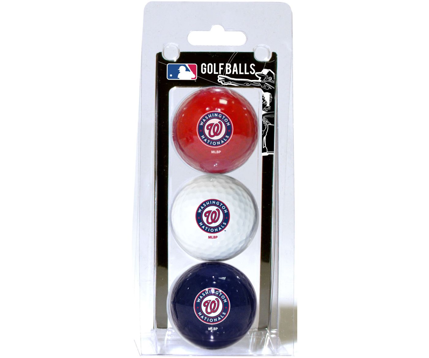Team Golf Washington Nationals Golf Balls - 3-Pack