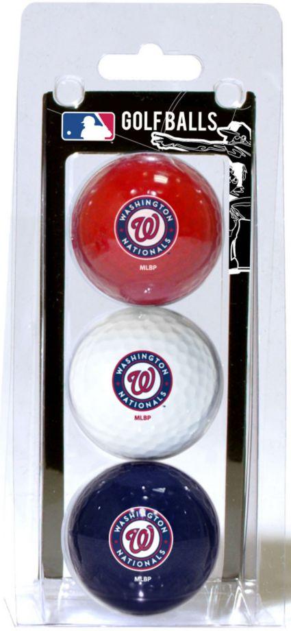 Team Golf Washington Nationals Golf Balls - 3-Pack