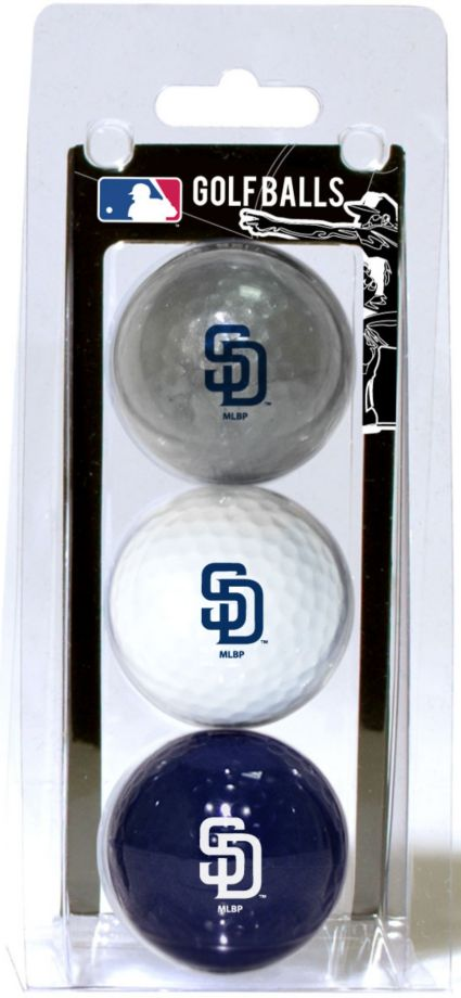 Team Golf San Diego Padres Golf Balls - 3-Pack