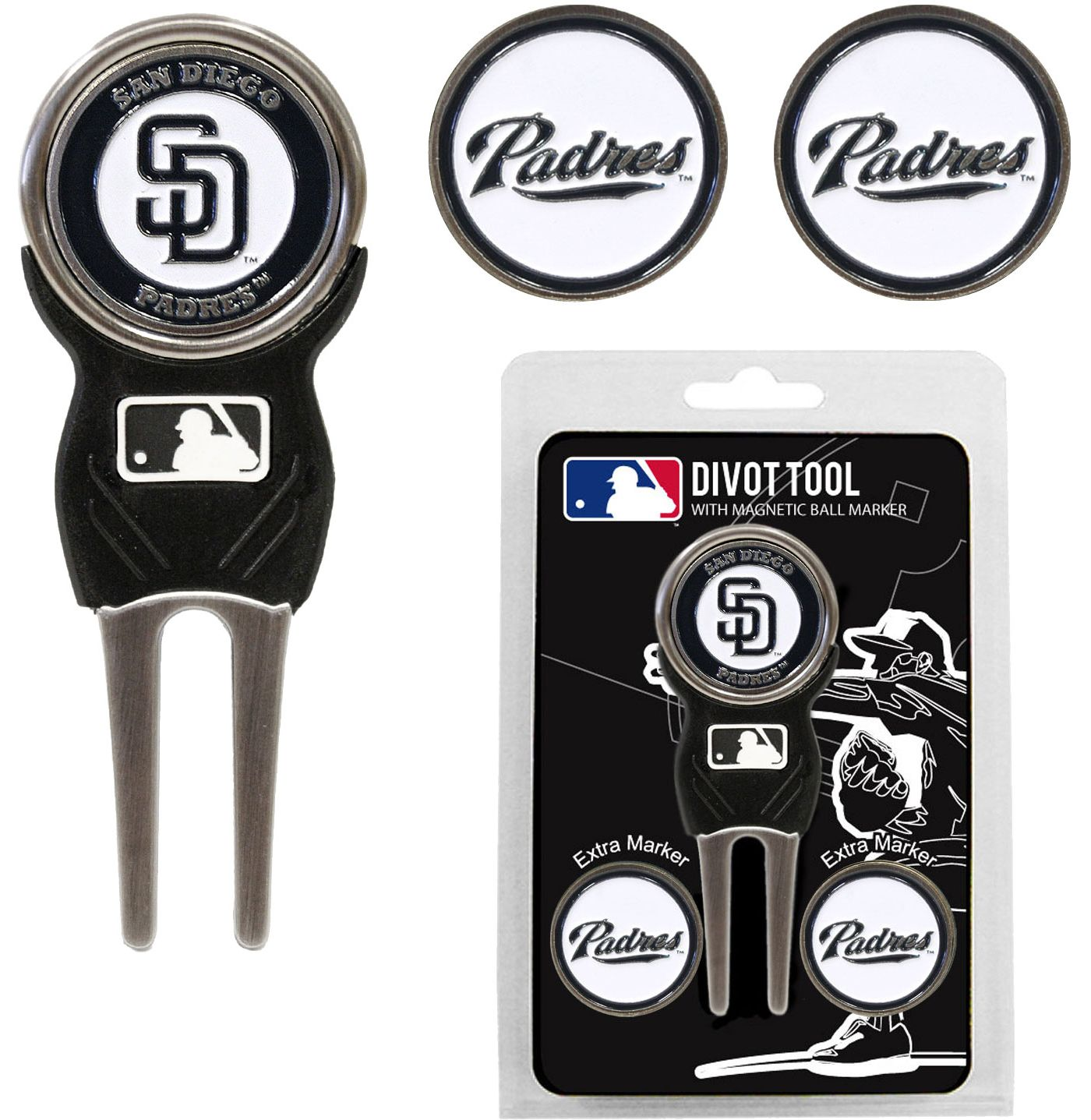 Team Golf San Diego Padres Divot Tool and Marker Set