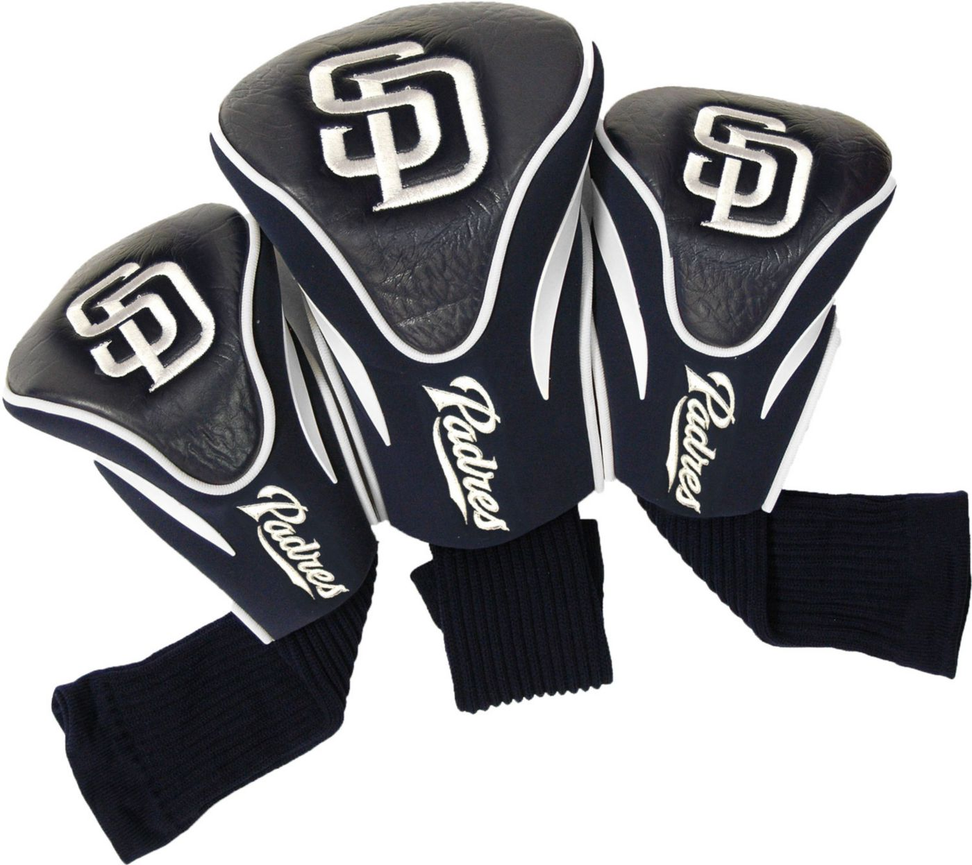 Team Golf San Diego Padres Contoured Headcovers - 3-Pack