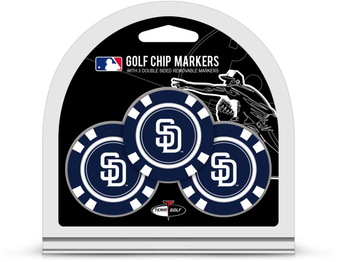 Team Golf San Diego Padres Golf Chips - 3 Pack