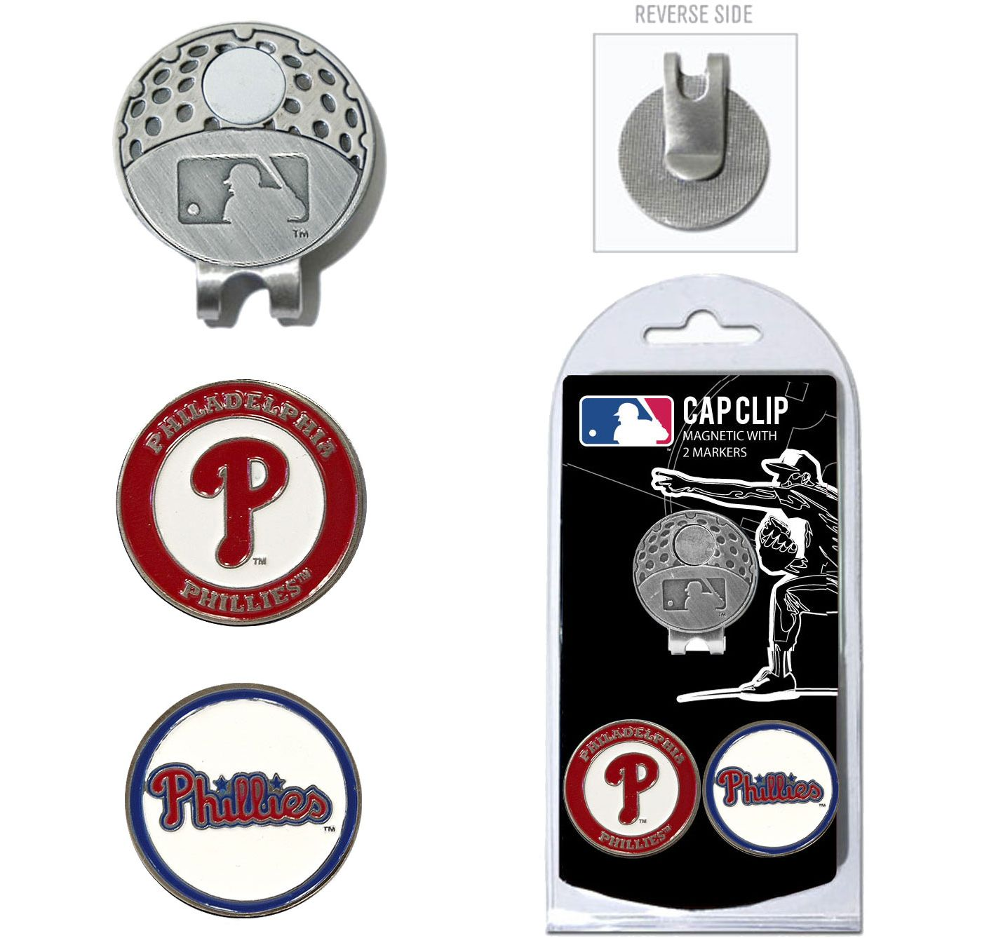 Team Golf Philadelphia Phillies Cap Clip
