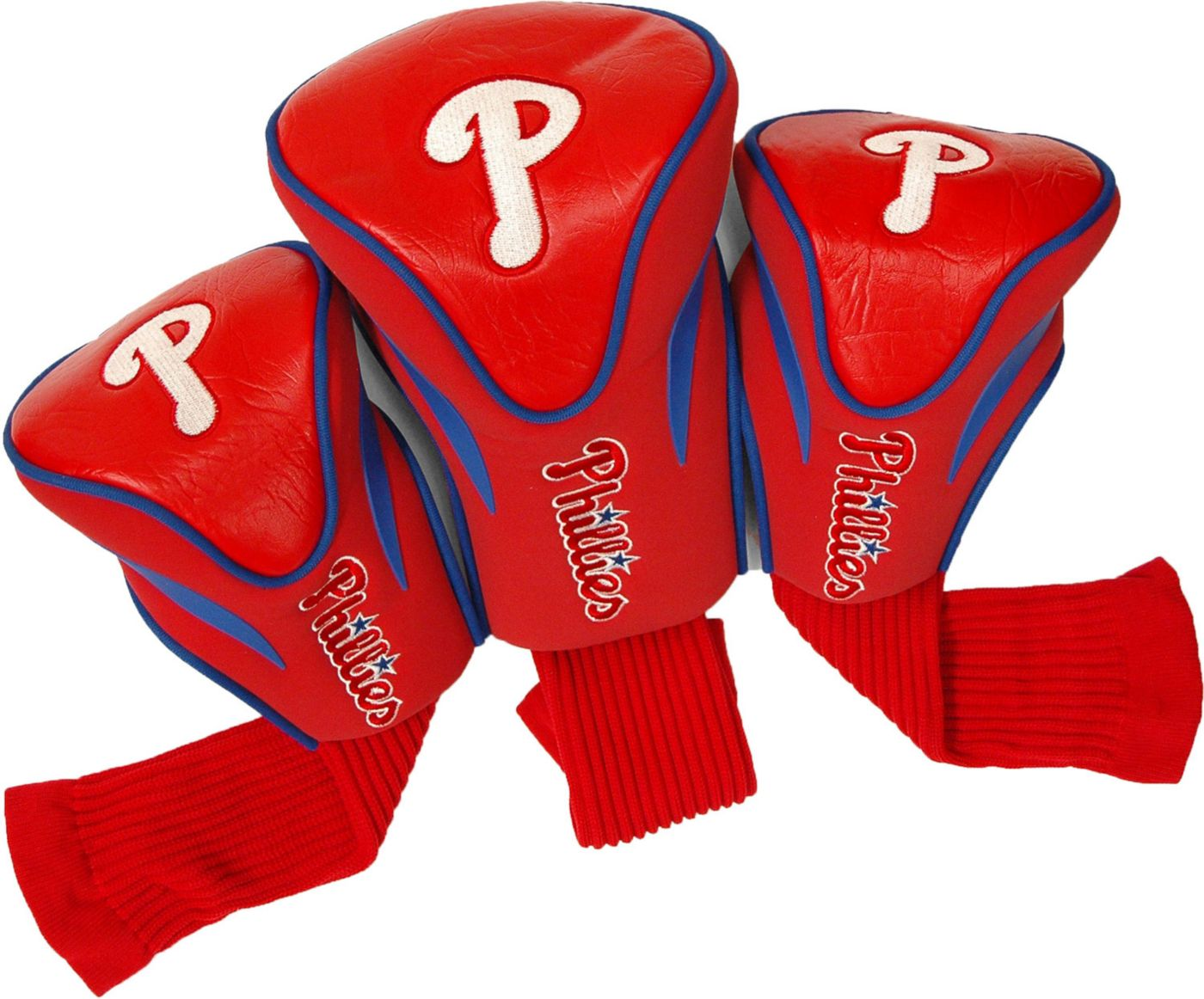 Team Golf Philadelphia Phillies Contour Sock Headcovers - 3 Pack