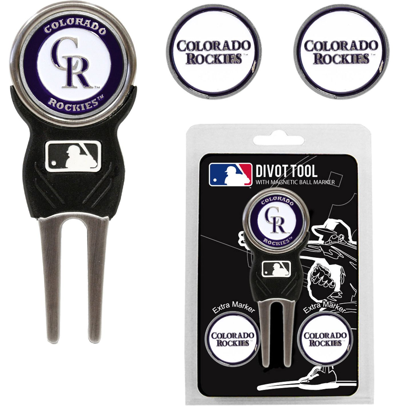 Team Golf Colorado Rockies Divot Tool and Marker Set