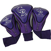 Team Golf Colorado Rockies Contoured Headcovers - 3-Pack