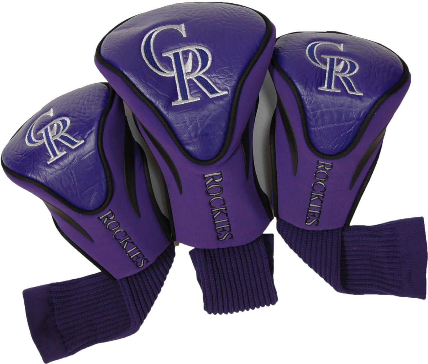 Team Golf Colorado Rockies Contour Sock Headcovers - 3 Pack