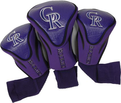 Team Golf Colorado Rockies Contour Sock Headcovers - 3 Pack