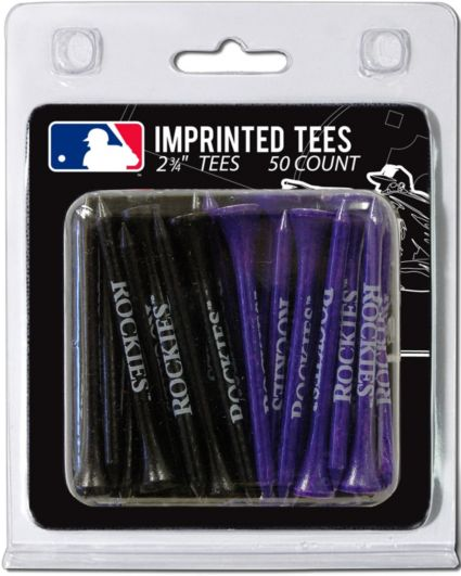 Team Golf Colorado Rockies 2.75'' Golf Tees - 50 Pack