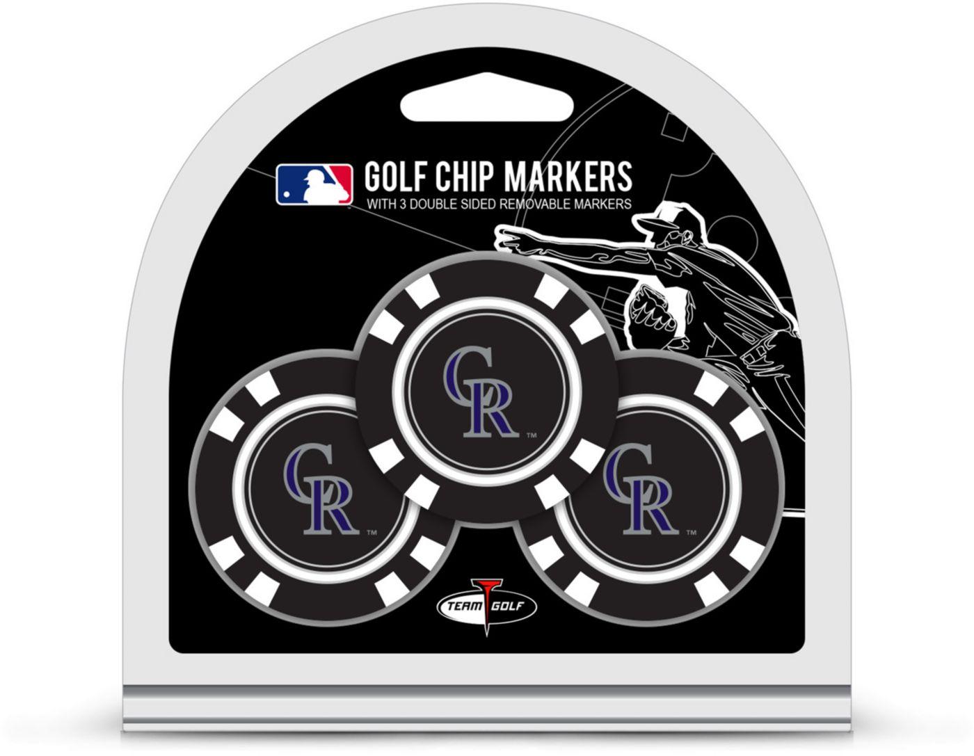 Team Golf Colorado Rockies Golf Chips - 3 Pack