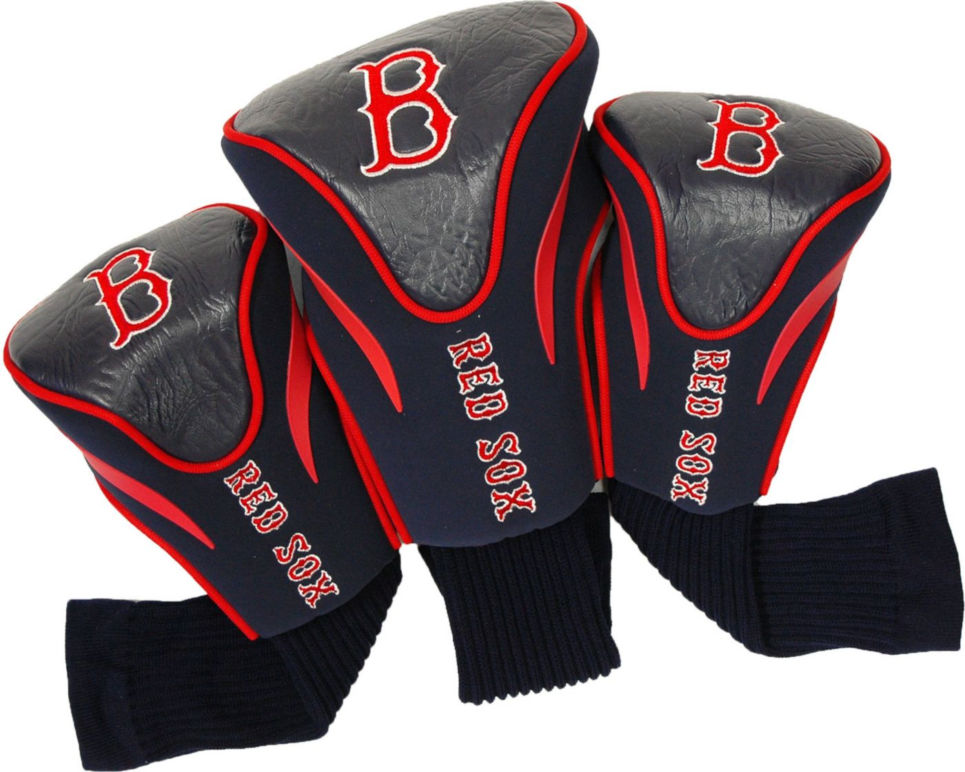Team Golf Boston Red Sox Contour Sock Headcovers - 3 Pack