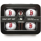 Team Golf Boston Red Sox 4-Ball Tin Set