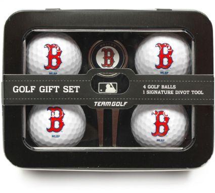 Team Golf Boston Red Sox 4-Ball Tin Gift Set
