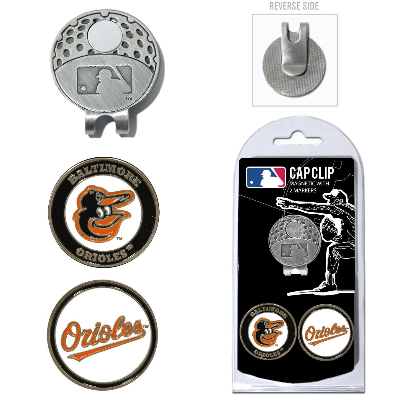 Team Golf Baltimore Orioles Cap Clip and Marker Set