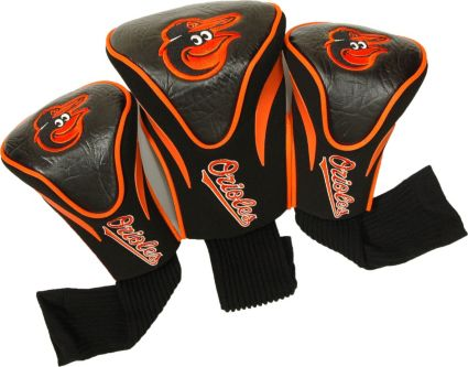 Team Golf Baltimore Orioles Contour Sock Headcovers - 3 Pack