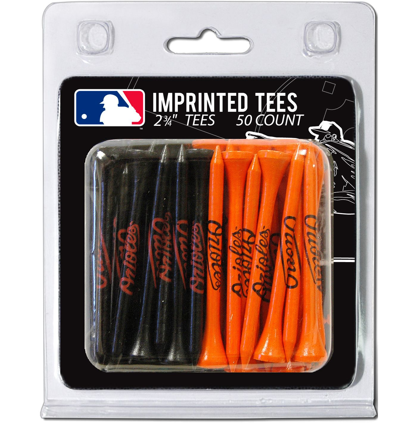 Team Golf Baltimore Orioles 2.75'' Golf Tees - 50 Pack