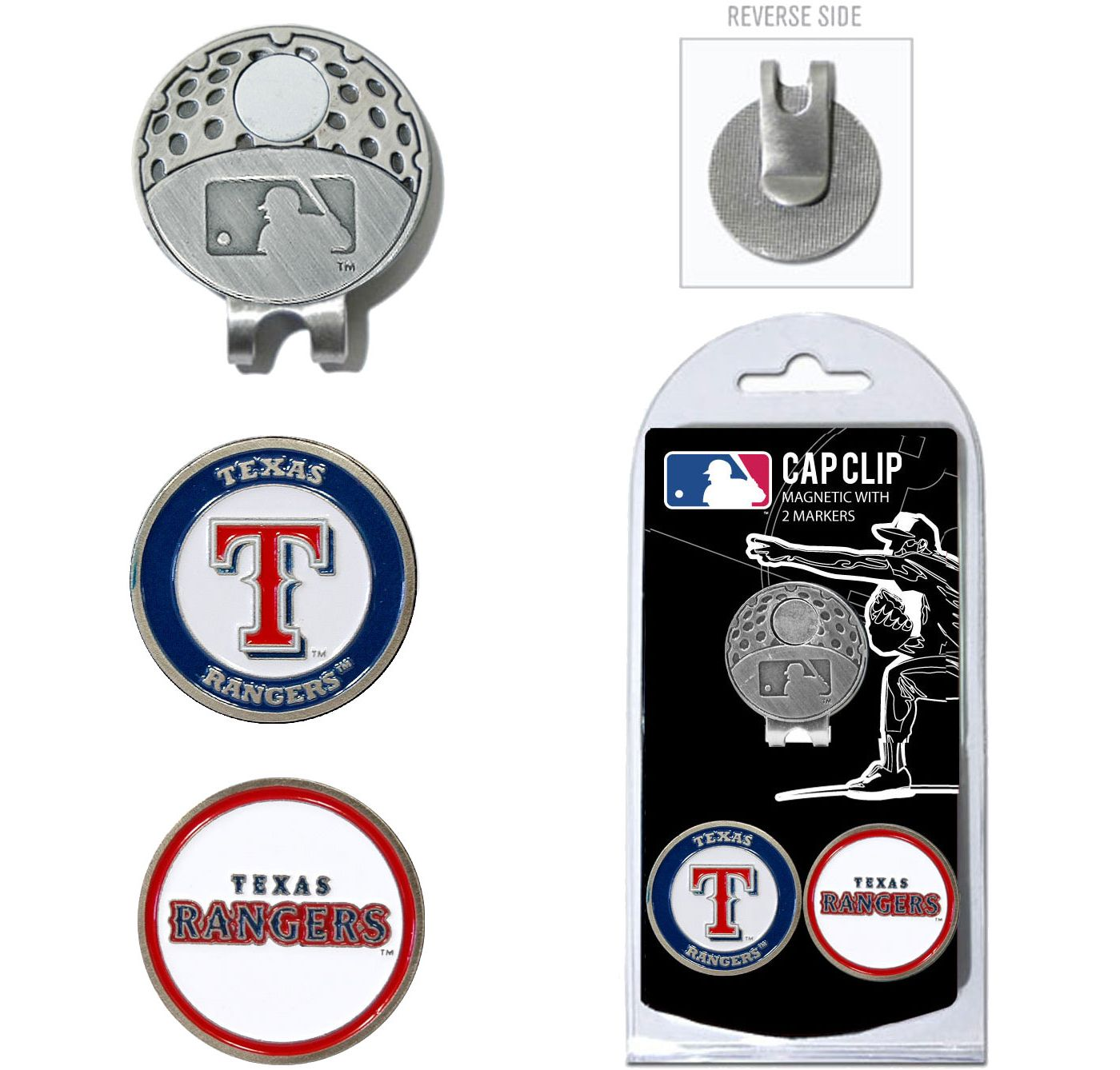 Team Golf Texas Rangers Cap Clip and Marker Set