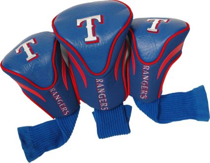 Team Golf Texas Rangers Contour Sock Headcovers - 3 Pack