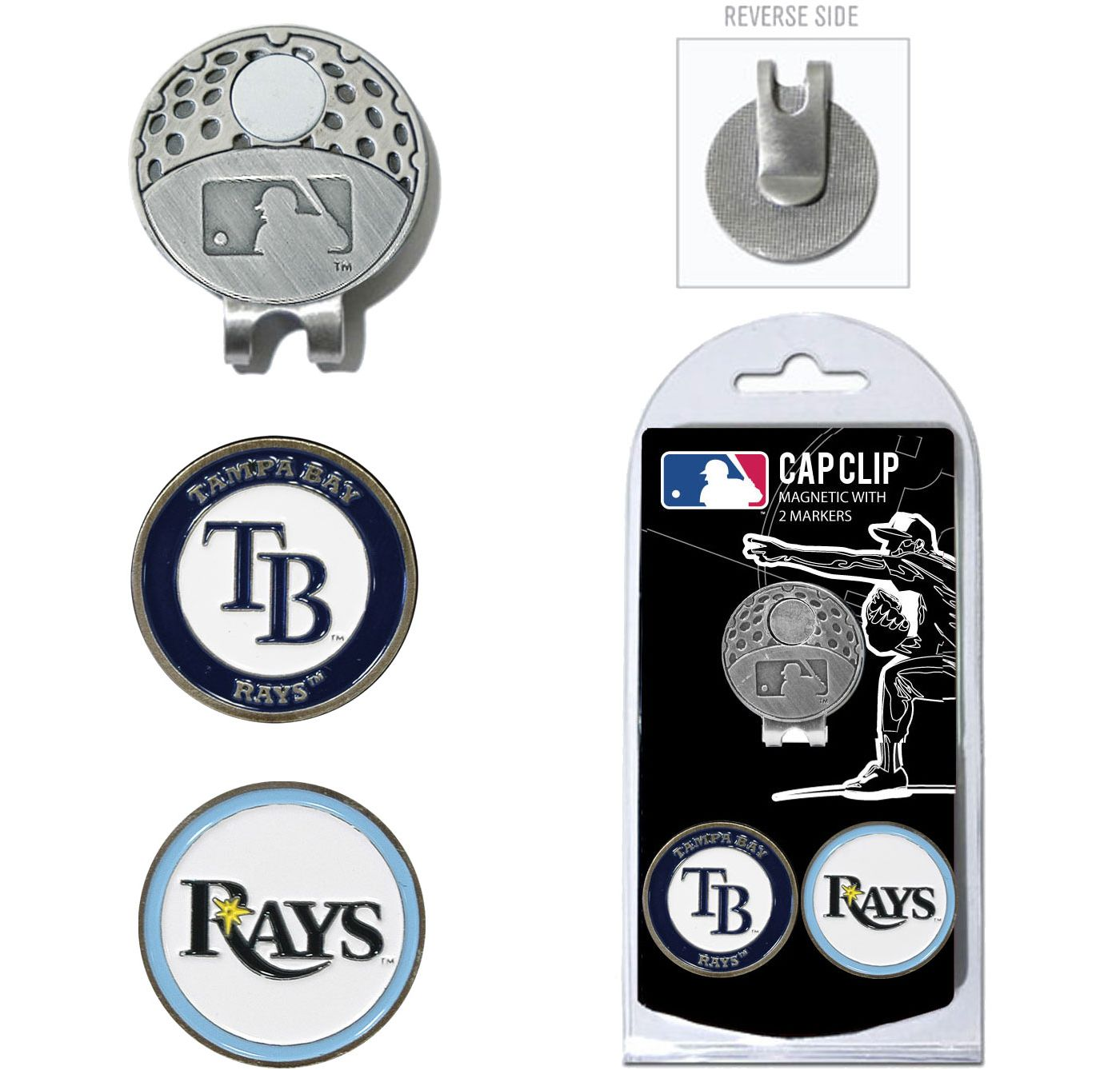 Team Golf Tampa Bay Rays Cap Clip and Marker Set