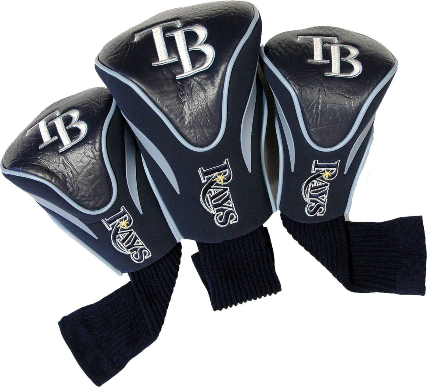 Team Golf Tampa Bay Rays Contour Sock Headcovers - 3 Pack