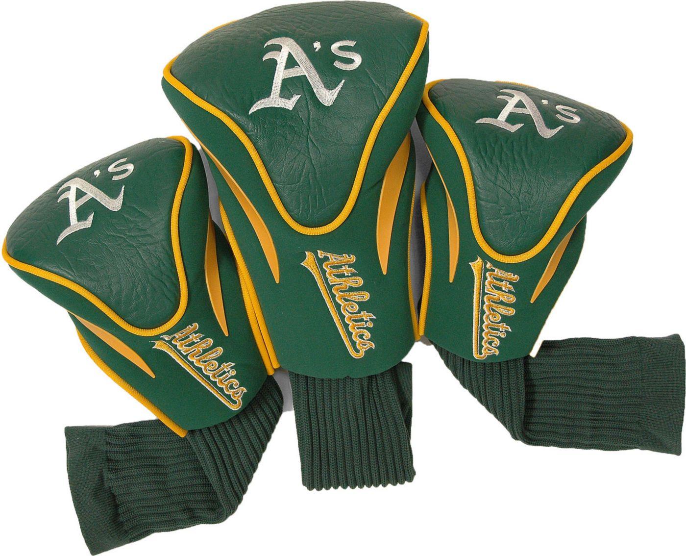 Team Golf Oakland Athletics Contour Sock Headcovers - 3 Pack