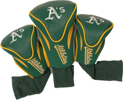 Team Golf Oakland Athletics Contour Sock Headcovers - 3 Pack