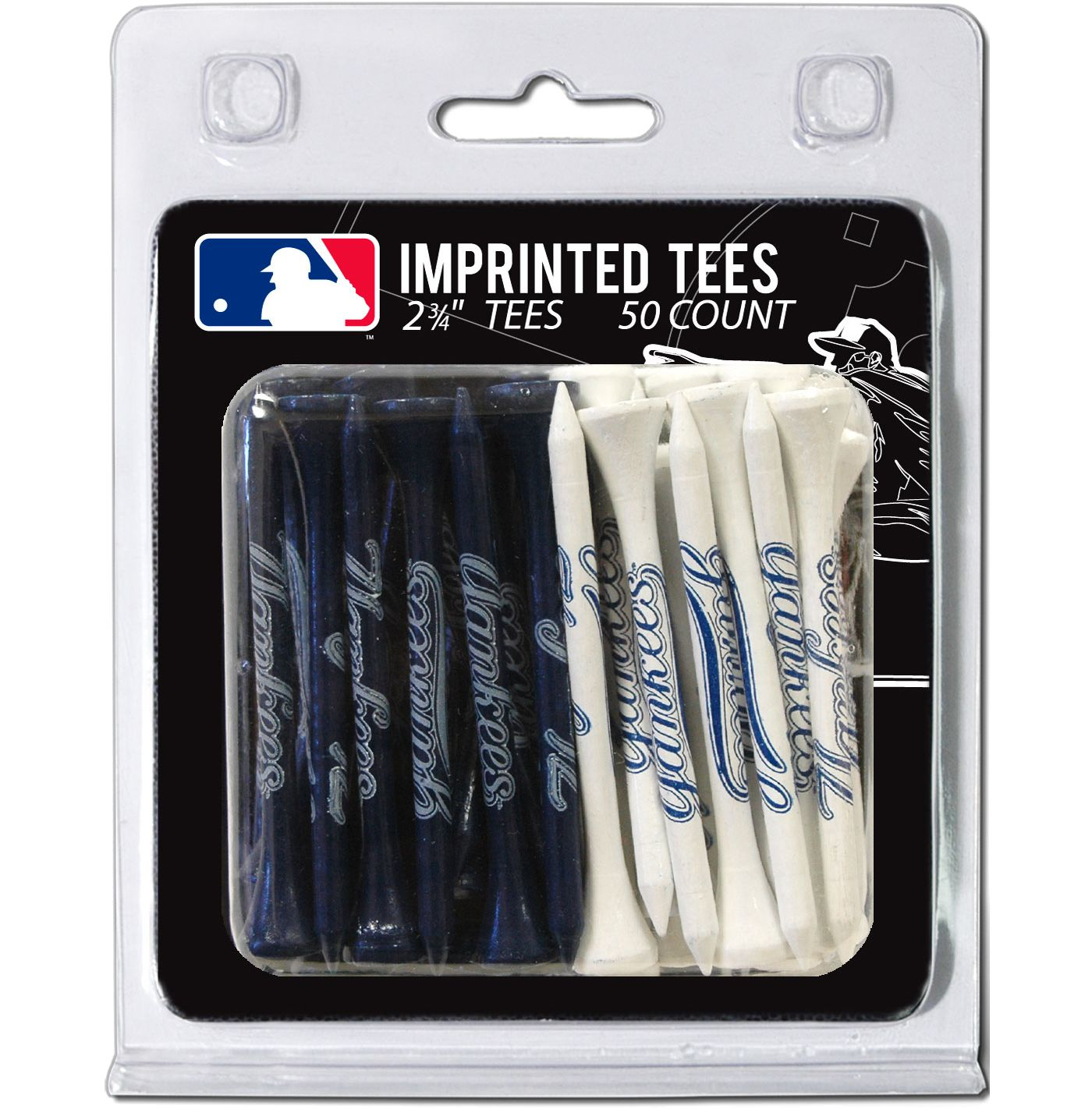 "Team Golf New York Yankees 2 3/4"" Golf Tees - 50 Pack"