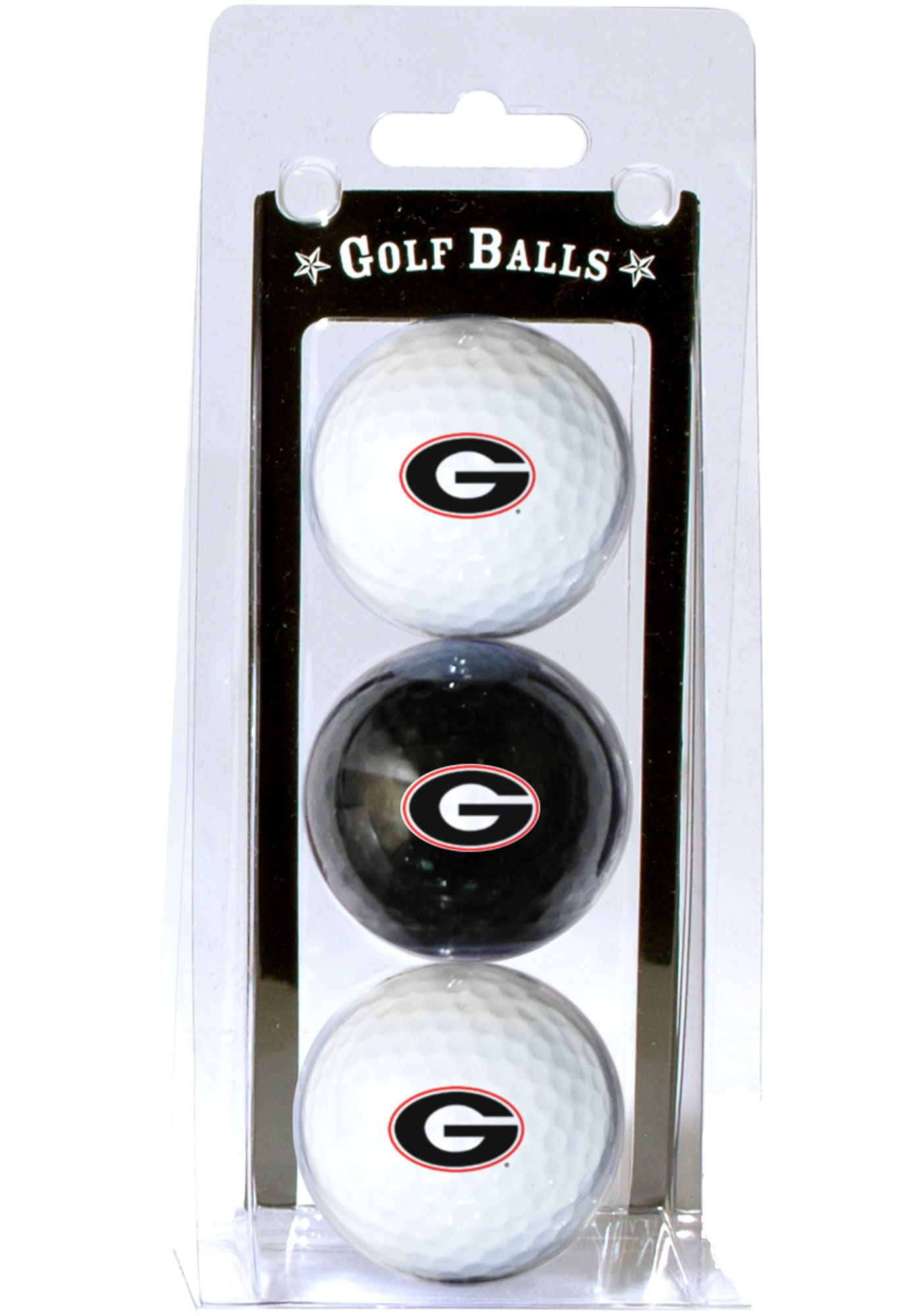 Team Golf Georgia Bulldogs Golf Balls - 3 Pack