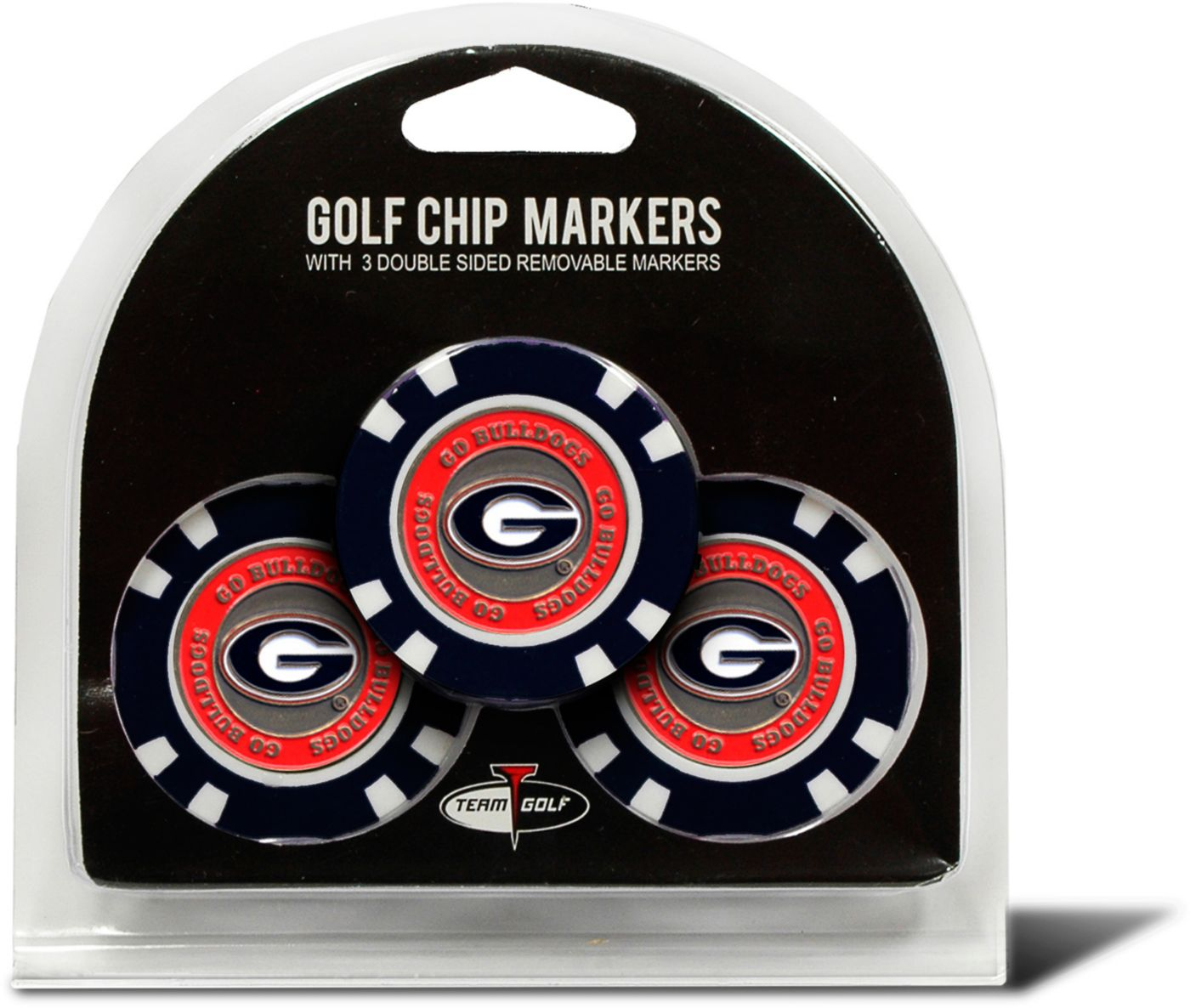 Team Golf Georgia Bulldogs Golf Chips - 3 Pack