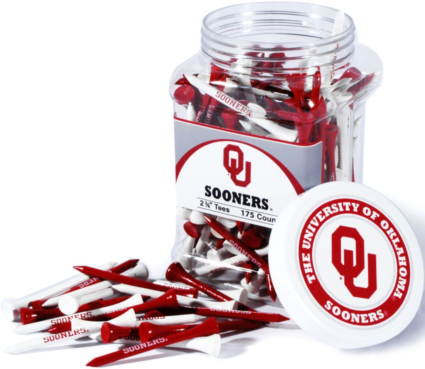 Team Golf Oklahoma Sooners Tee Jar - 175 Pack