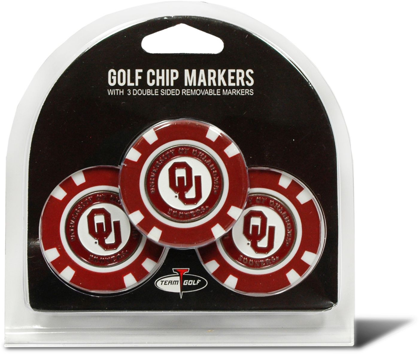 Team Golf Oklahoma Sooners Golf Chips - 3 Pack