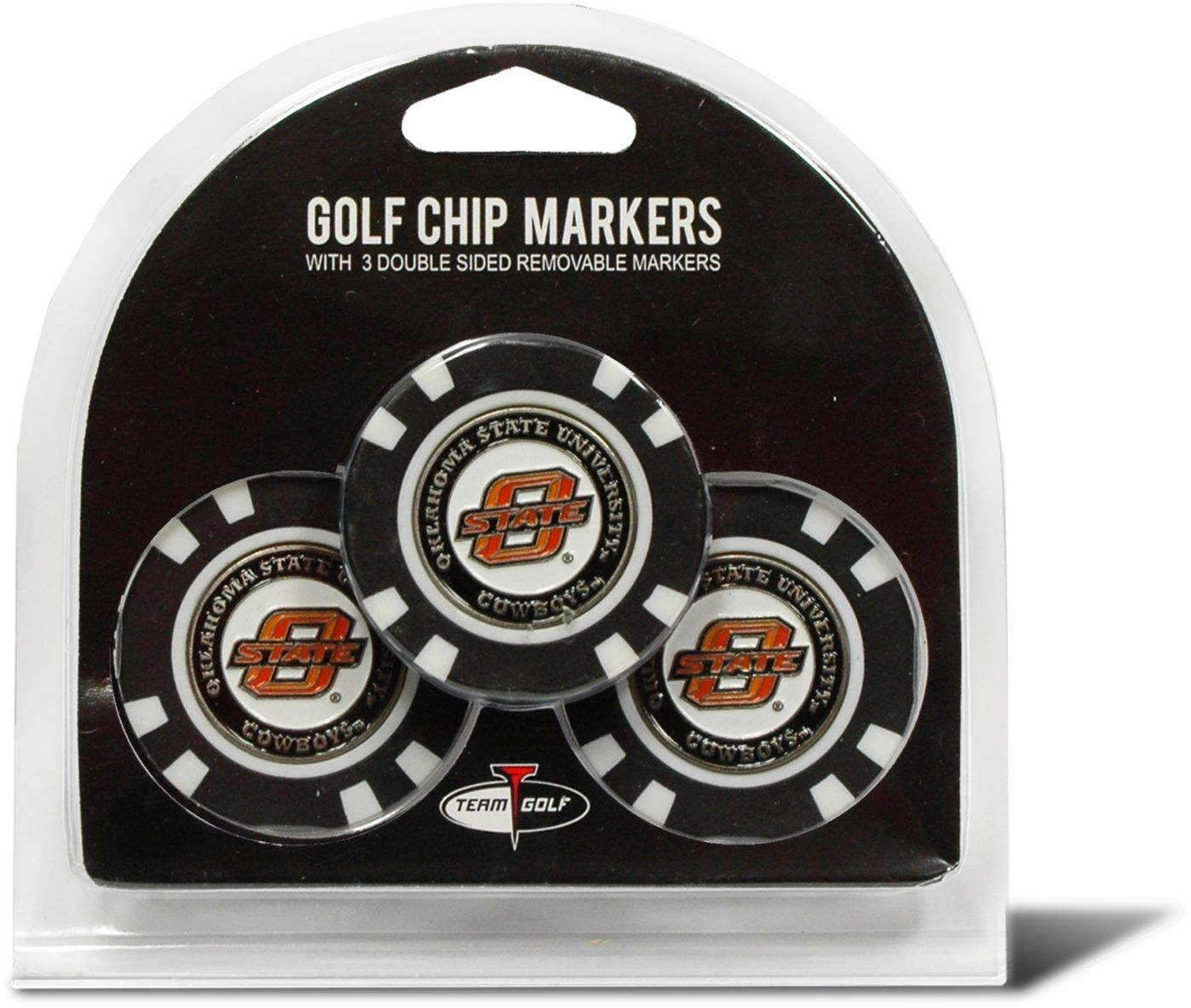 Team Golf Oklahoma Cowboys Poker Chips Ball Markers - 3-Pack