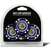 Team Golf Kansas Jayhawks Poker Chips Ball Markers - 3-Pack