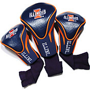 Team Golf Illinois Fighting Illini Contour Headcovers - 3-Pack