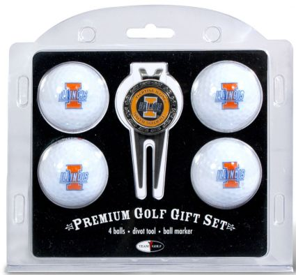 Team Golf Illinois Fighting Illini Golf Ball/Divot Tool Set