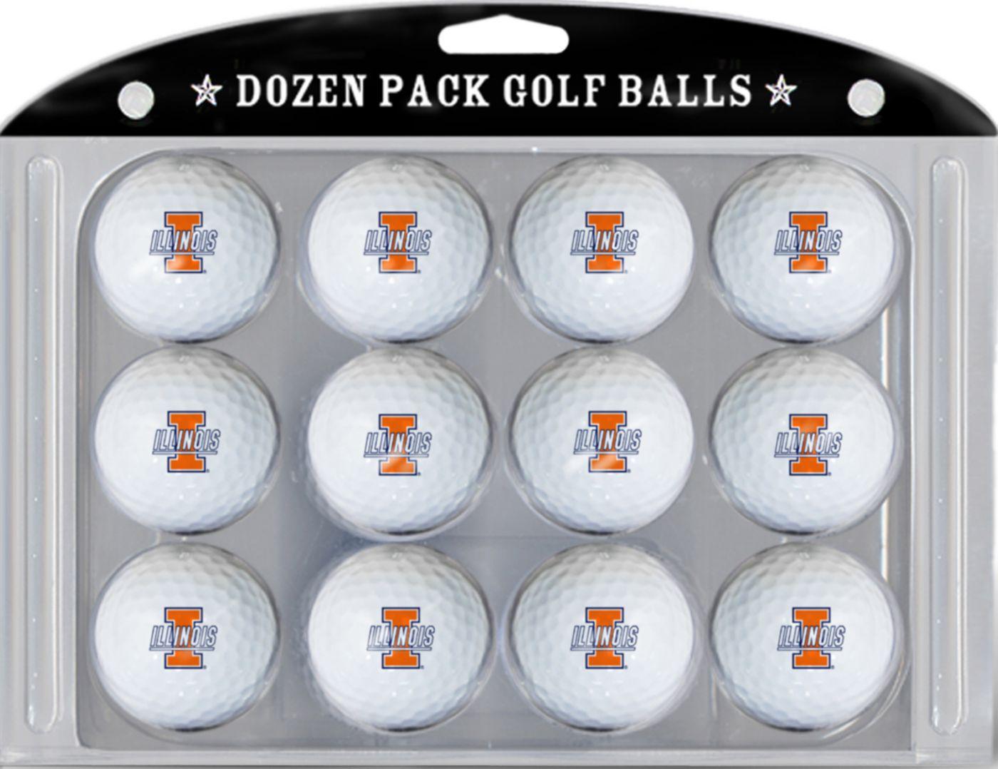 Team Golf Illinois Fighting Illini Golf Balls
