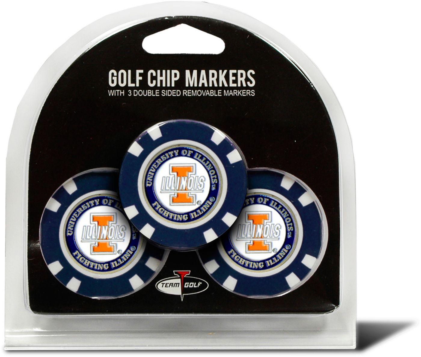 Team Golf Illinois Fighting Illini Golf Chips - 3 Pack