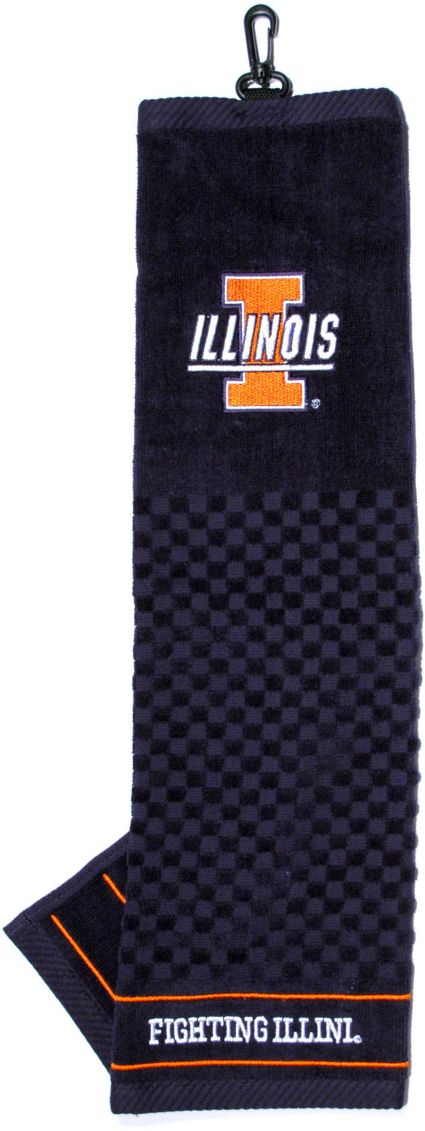 Team Golf Illinois Fighting Illini Embroidered Towel