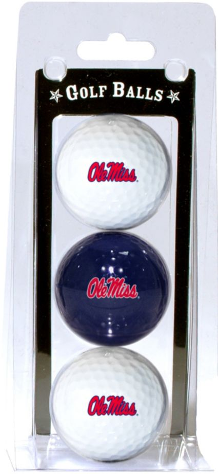 Team Golf Ole Miss Rebels Golf Balls - 3 Pack