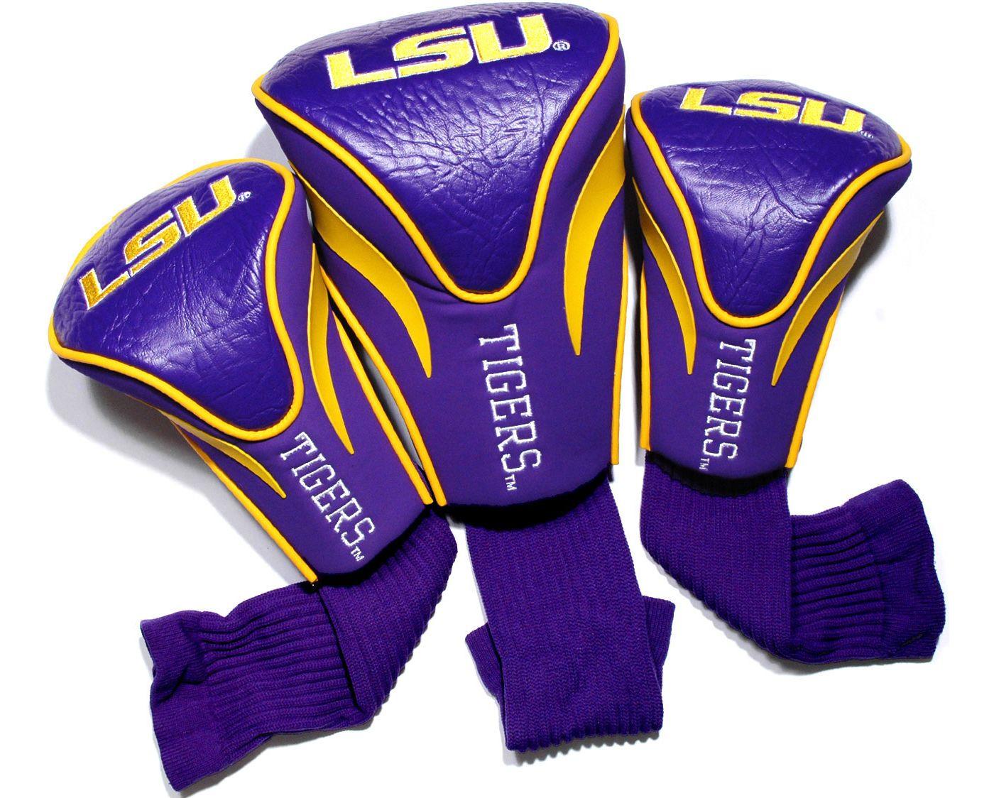 Team Golf LSU Tigers Contour Sock Headcovers - 3 Pack