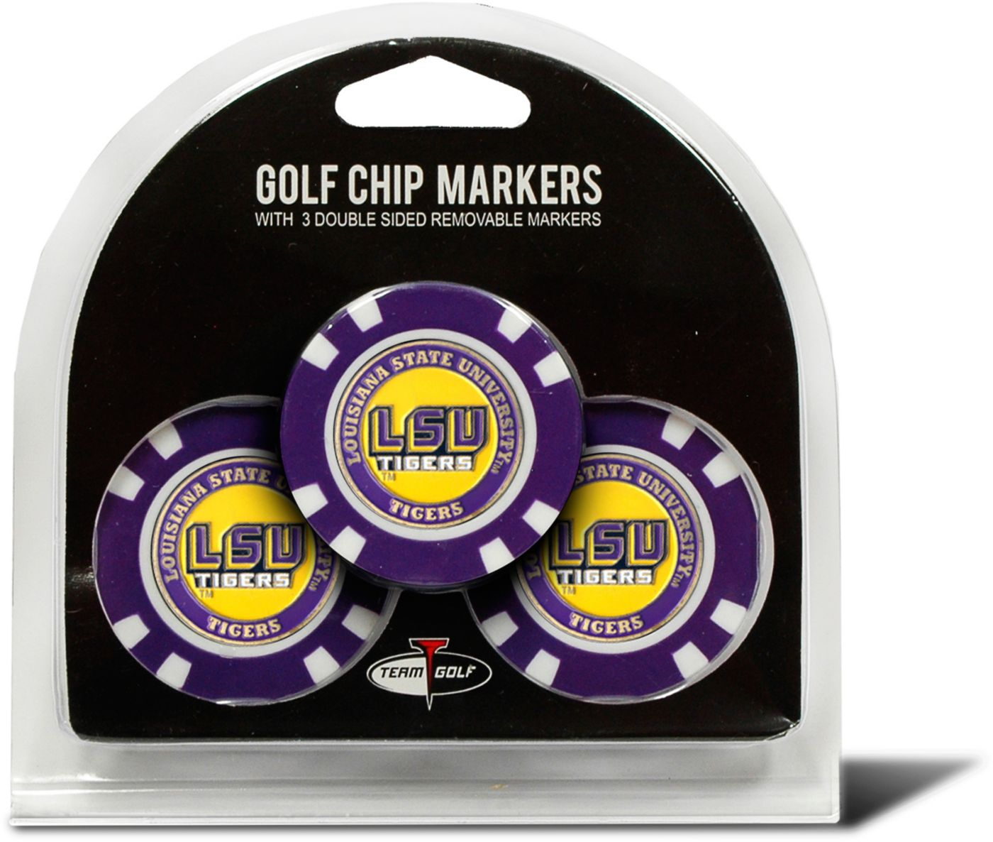 Team Golf LSU Tigers Golf Chips - 3 Pack