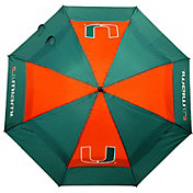 "Team Golf Miami Hurricanes 62"" Double Canopy Umbrella"