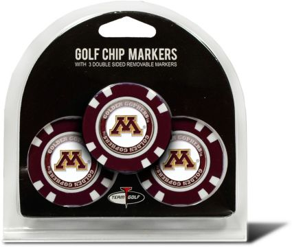 Team Golf Minnesota Golden Gophers Golf Chips - 3 Pack