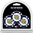 Team Golf Marquette Golden Eagles Poker Chips Ball Markers - 3-Pack