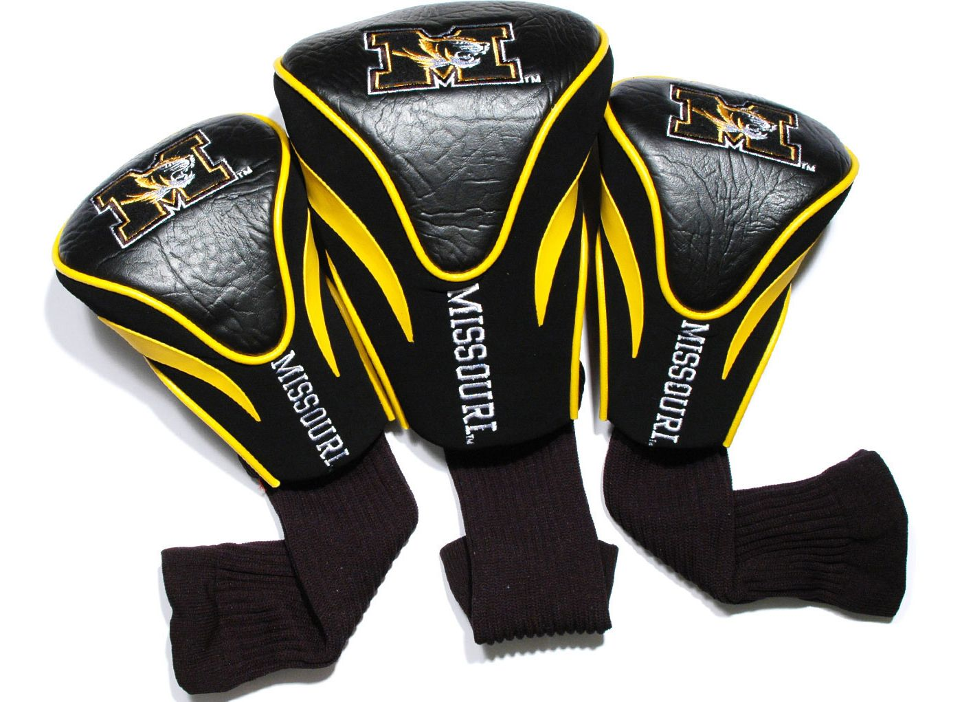 Team Golf Missouri Tigers Contour Sock Headcovers - 3 Pack