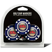 Team Golf Ole Miss Rebels Poker Chips Ball Markers - 3-Pack