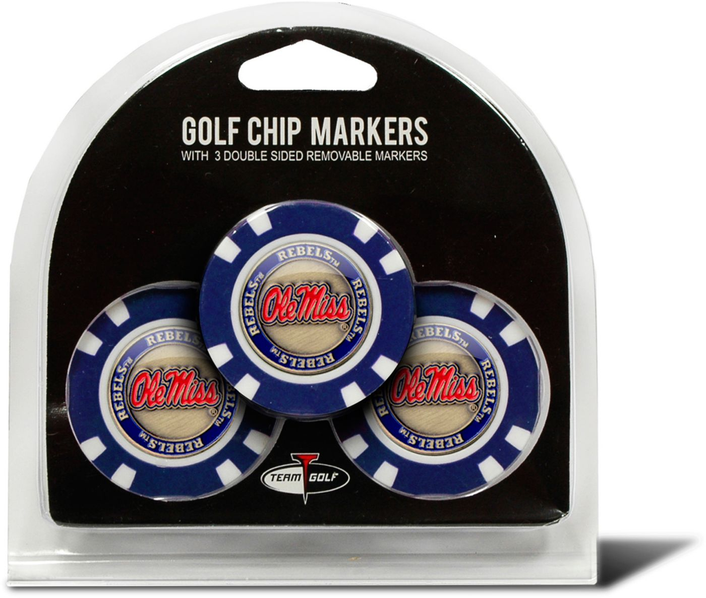 Team Golf Ole Miss Rebels Golf Chips - 3 Pack