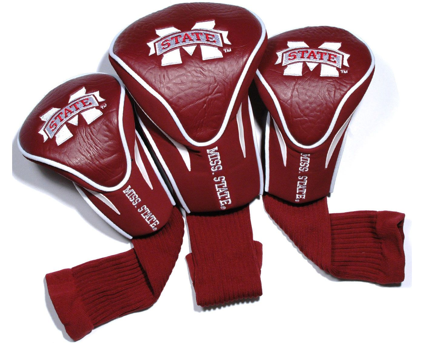 Team Golf Mississippi State Bulldogs Contour Sock Headcovers - 3 Pack