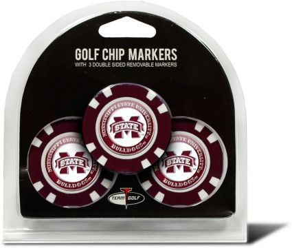 Team Golf Mississippi State Bulldogs Golf Chips - 3 Pack
