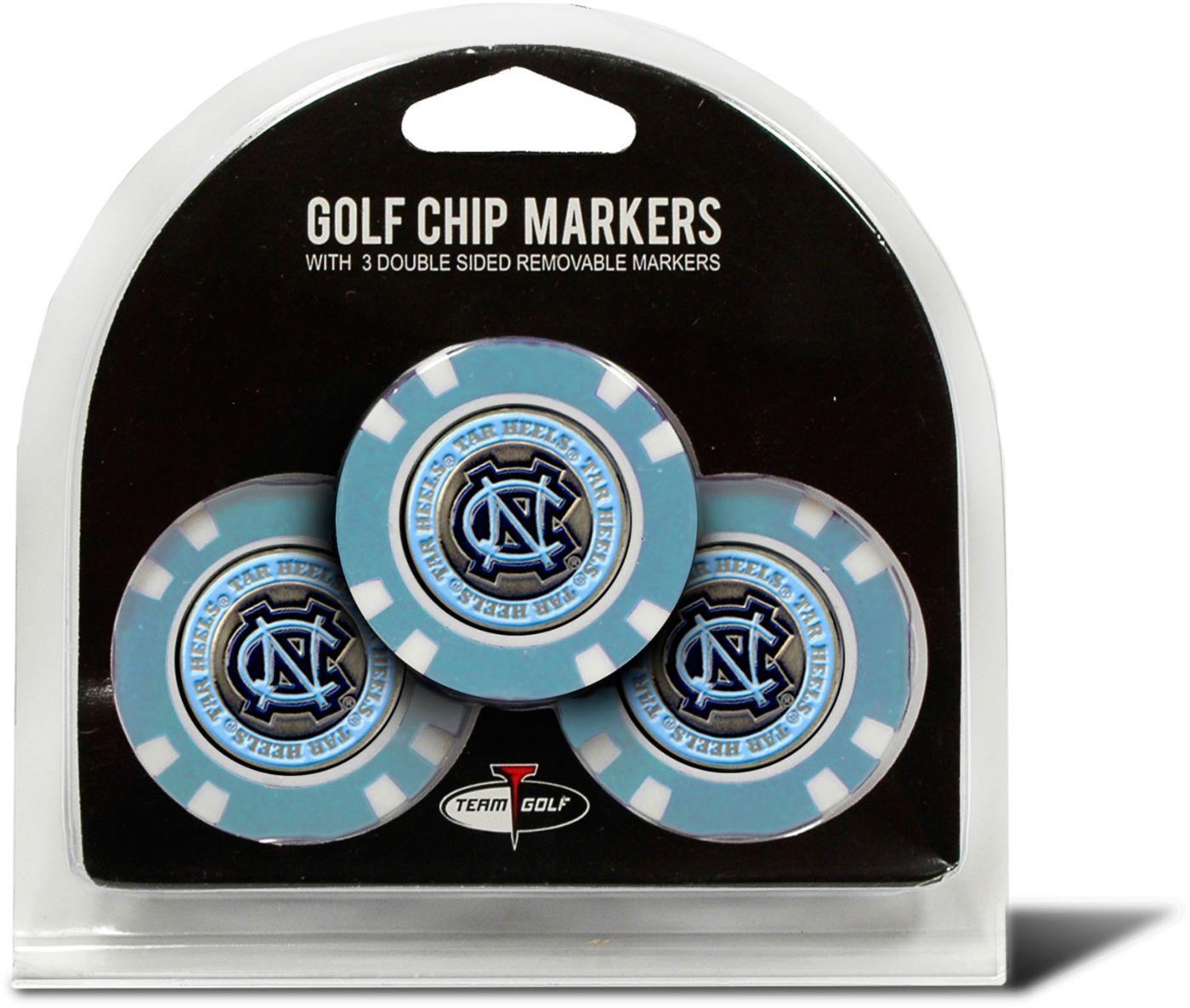 Team Golf North Carolina Tar Heels Golf Chips - 3 Pack